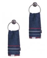 Jockey Ink Blue Grindle Hand Towel Pack of 2