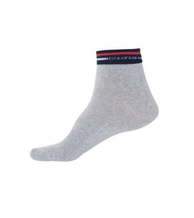 Jockey Grey Melange Ankle Socks