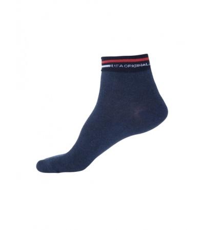 Jockey Navy Melange Ankle Socks