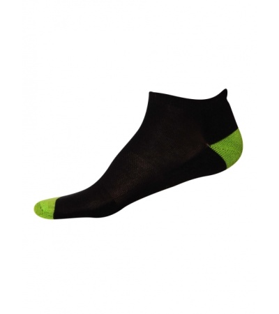 Jockey Black & Performance Green Men Low Ankle Socks