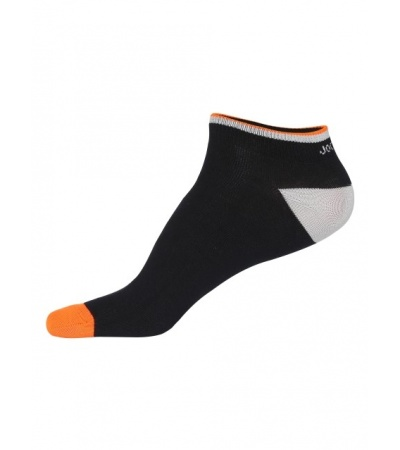 Jockey Black & Neon Orange Men Low Show Socks