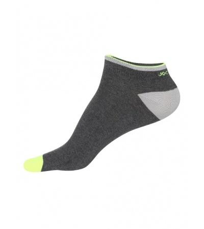 Jockey Charcoal Melange & Neon Yellow Men Low Show Socks