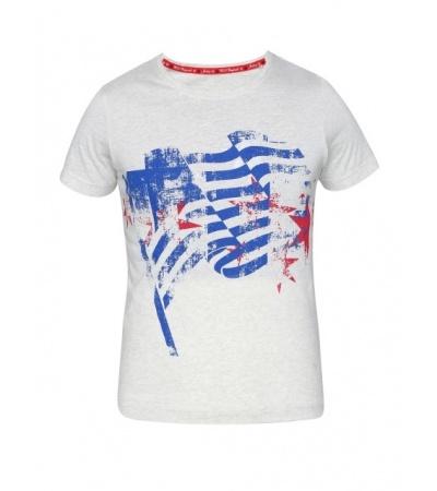 Jockey Cream Melange Girl's Graphic T-Shirt