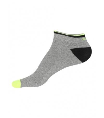 Jockey Grey Melange & Neon Yellow Men Low Show Socks
