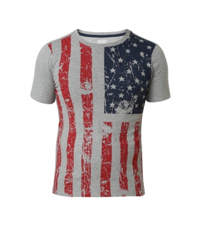 Jockey Grey Melange Print Boys Printed T-Shirt