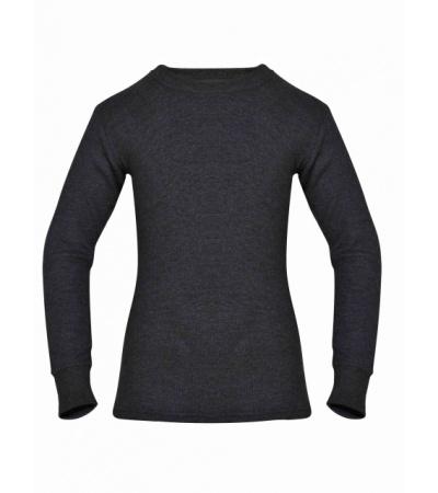 Jockey Charcoal Melange Kids Long Sleeve Vest