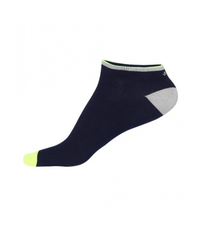 Jockey Navy & Neon Yellow Men Low Show Socks