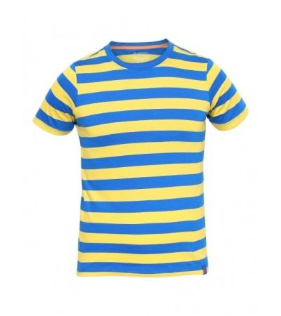 Jockey Neon Blue & Maize Boys Striped T-Shirt