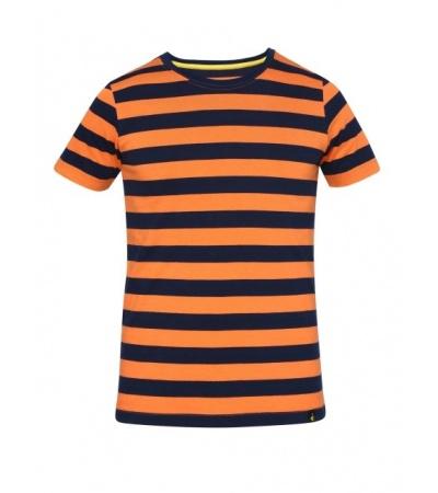 Jockey Orange & Navy Boys Striped T-Shirt
