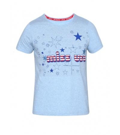 Jockey Sky Blue Melange Girl's Graphic T-Shirt
