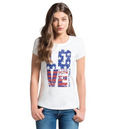 Crew-Neck Graphic T- Shirt