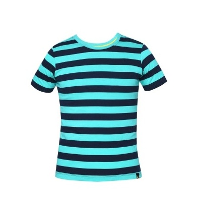 Jockey Waterfall & Navy Boys Striped T-Shirt