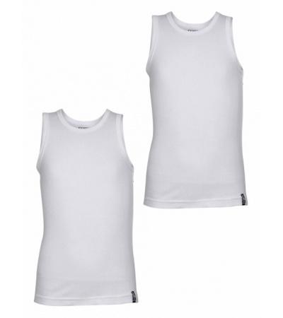 Jockey White Boys Vest Pack of 2