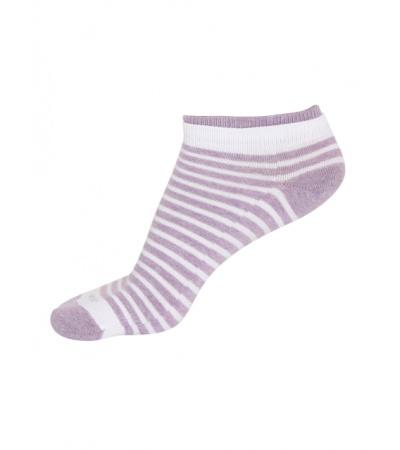 Jockey White & Lilac Melange Women Low show socks Pack of 2