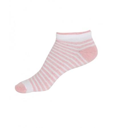 Jockey White & Pink Melange Women Low show socks Pack of 2