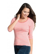 Stripe 3/4 Sleeve T-Shirt