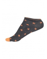 Jockey Charcoal Melange Printed Low Ankle Socks Pack of 2