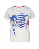Jockey Cream Melange Girl's Graphic T-Shirt