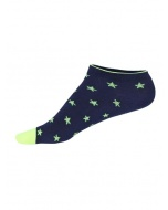 Jockey Ink Blue Melange Printed Low Ankle Socks Pack of 2