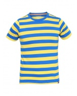Jockey Neon Blue & Maize Boys Striped T-Shirt
