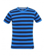 Jockey Neon Blue & Navy Boys Striped T-Shirt