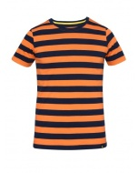 Jockey Orange & Navy Boys Striped T-Shirt