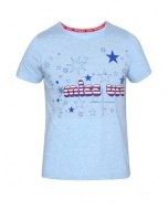 Jockey Sky Blue Melange Girl's Graphic T-Shirt