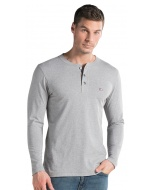 HENLEY T-SHIRT LONG SLEEVE