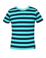 Jockey Waterfall & Navy Boys Striped T-Shirt
