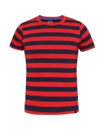 Jockey Wordly Red & Navy Boys Striped T-Shirt