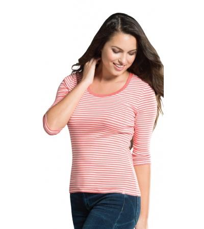 Stripe 3/4 Sleeve T-Shirt