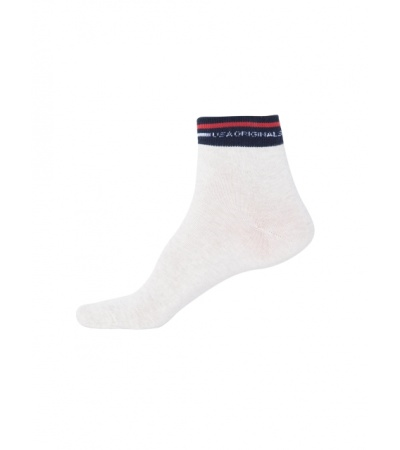 Jockey Cream Melange Ankle Socks