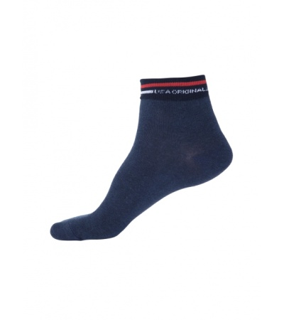 Jockey Navy Melange Ankle Socks