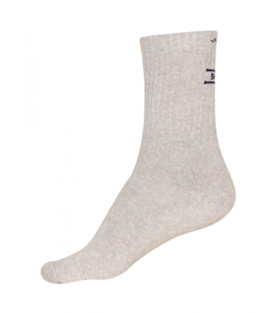 Jockey Grey Melange Men Crew Socks