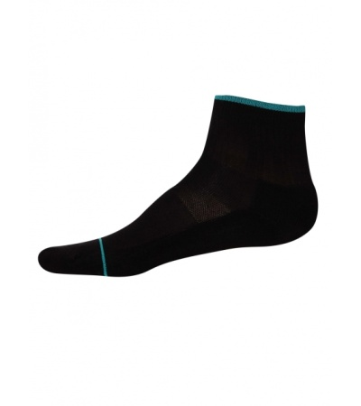Jockey Black & Caribbean Turq Men Ankle Socks