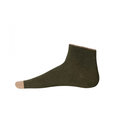 Jockey Green Melange Men Ankle Socks
