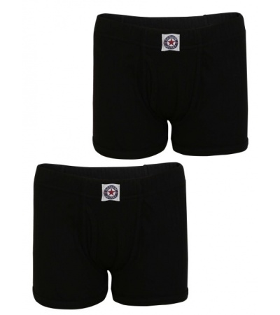Jockey Black Boys Trunk Pack of 2-Black-9-10 Yrs