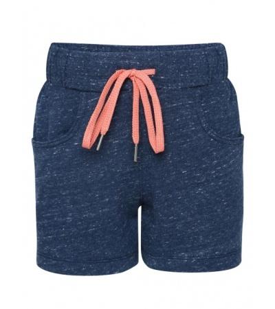 Jockey Blue Snow Melange Girls Shorts-Blue-7-8 Yrs