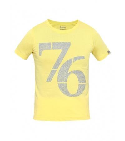Jockey Gold Finch Print 24 Boys Printed T-Shirt-Yellow-7-8 Yrs