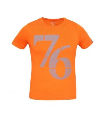 Jockey Golden Poppy Print 24 Boys Printed T-Shirt-Sunset Orange -7-8 Yrs