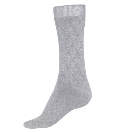 Jockey Grey Melange Des2 Calf Length Socks
