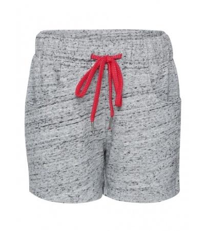Jockey Grey Snow Melange Girls Shorts-Grey-7-8 Yrs