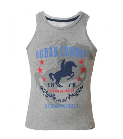 Jockey Grey Melange Prints Boys Printed Vest