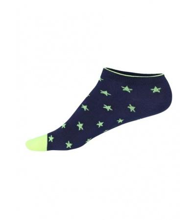 Jockey Ink Blue Melange Printed Low Ankle Socks Pack of 2
