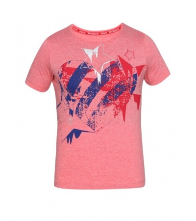 Jockey Passion Red Melange Girl's Graphic T-Shirt