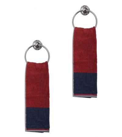 Jockey Red Grindle Hand Towel Pack of 2