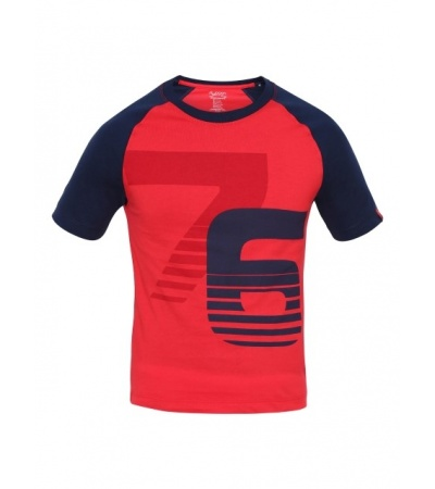 Jockey Team Red & Navy Print26 Boys Raglan Printed T-Shirt