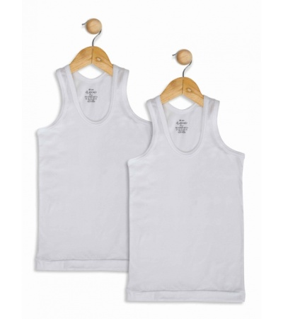 Jockey White Boys Undershirt Pack of 2-White-9-10 Yrs