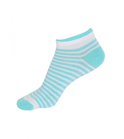 Jockey White & Blue Radiance Women Low show socks Pack of 2