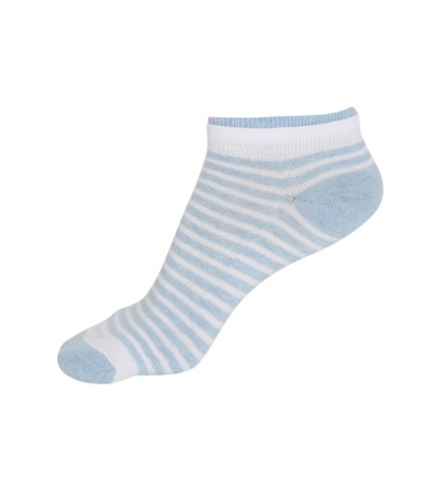 Jockey White & Sky Melange Women Low show socks Pack of 2